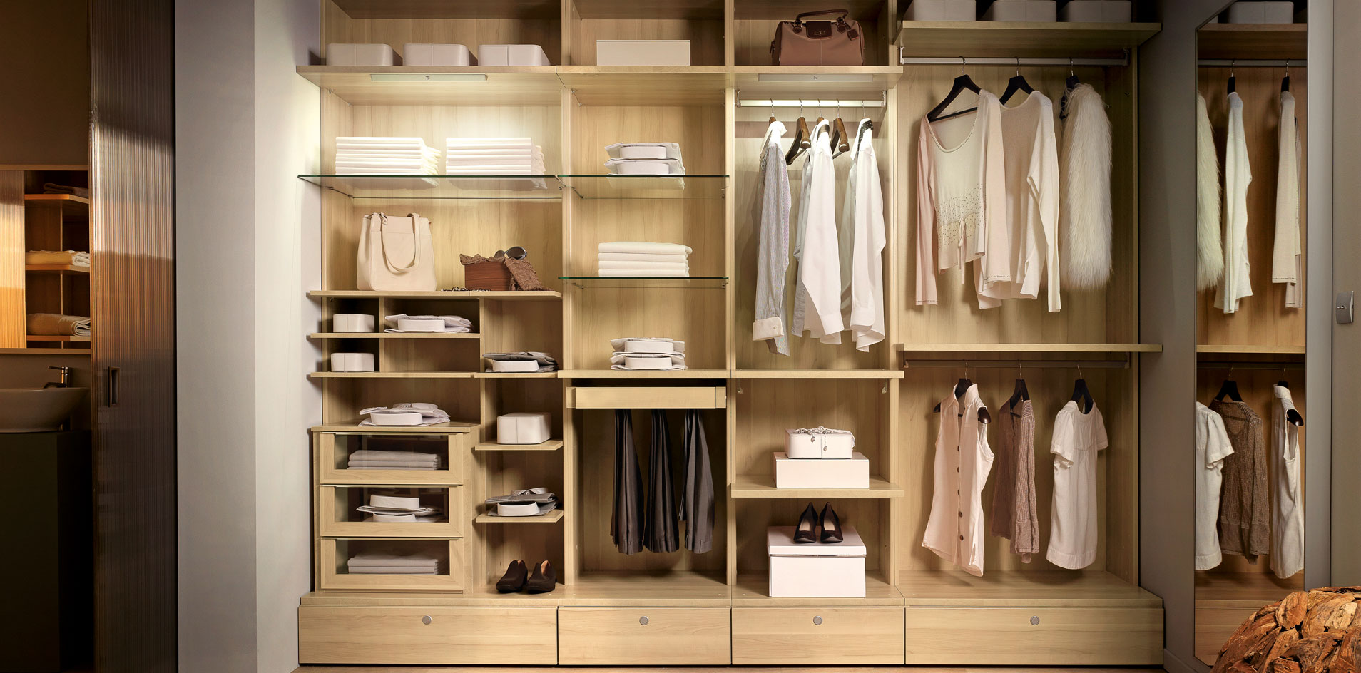 le dressing d angle donne du cachet ma pi ce. Black Bedroom Furniture Sets. Home Design Ideas